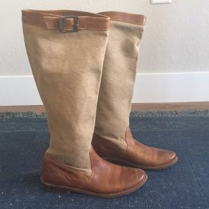 Frye canvas riding boots